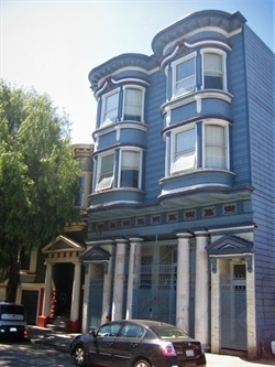 CJCJ's Cameo House on a sunny day in San Francisco's Mission District.