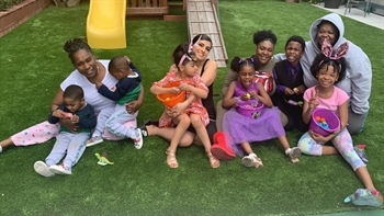 CJCJ's Cameo House participants and their children enjoy a fun afternoon together!