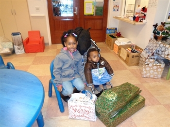 Children served by CJCJ programs receive fun gifts to celebrate the holidays!