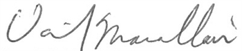 Daniel Macallair signature