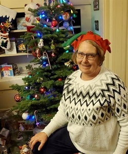CWR Assistant Director Maire Larkin shows her festive spirit for the holiday season.