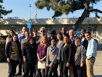 CJCJ and partners tour DJJ facilities in Stockton, CA.