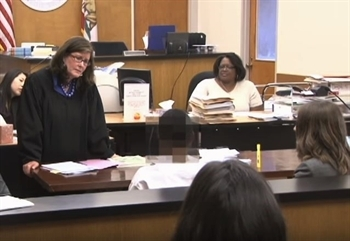 Judge Kathleen Kelly of the Superior Court of San Francisco presiding over the Juvenile Reentry Court