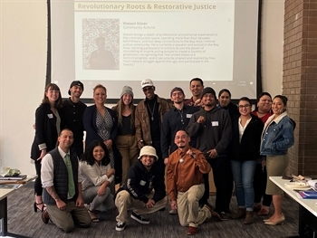 Next Generation Fellows with former NGF fellow Watani Stiner (center) at session 2 in Oakland, CA.