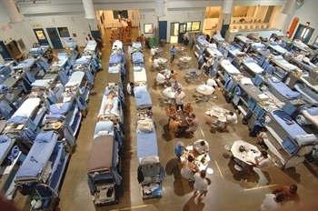 Overcrowded California prison, July 2006