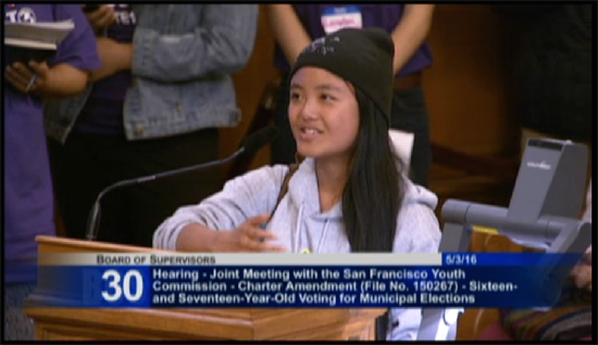 San Francisco Youth Commission public comment
