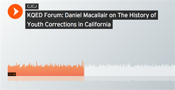 Listen to Dan Macallair on KQED's Forum
